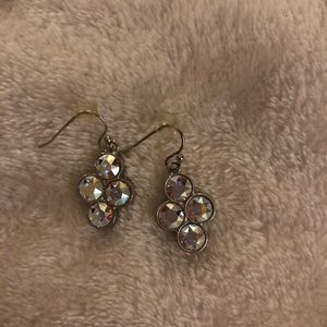 Swarovski Metallic/Clear Dangle Earrings